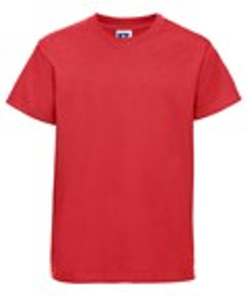 Mill Ford School Embroidered Red T-Shirt Adult (Wednesday)