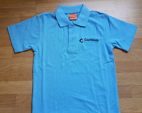 Adults size Sky Blue Courtlands Embroidered Polo