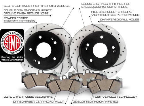 Disc Brake Rotors >> Front Disc Brake Rotor And Pad Combo Kit C1012 Approved Performance