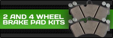 2 and 4 Wheel Brake Pad Kits