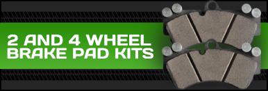 2 and 4 Wheel Brake Pad Kits