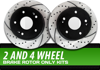 2 and 4 Wheel Brake Rotor Only Kits