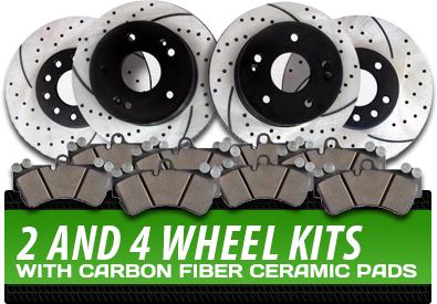2 and 4 Wheel Kits With Carbon Fiber Ceramic Pads