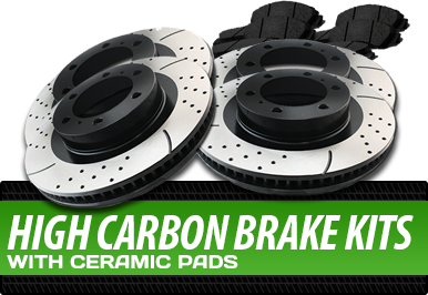 High Carbon Brake Kits With Ceramic Pads