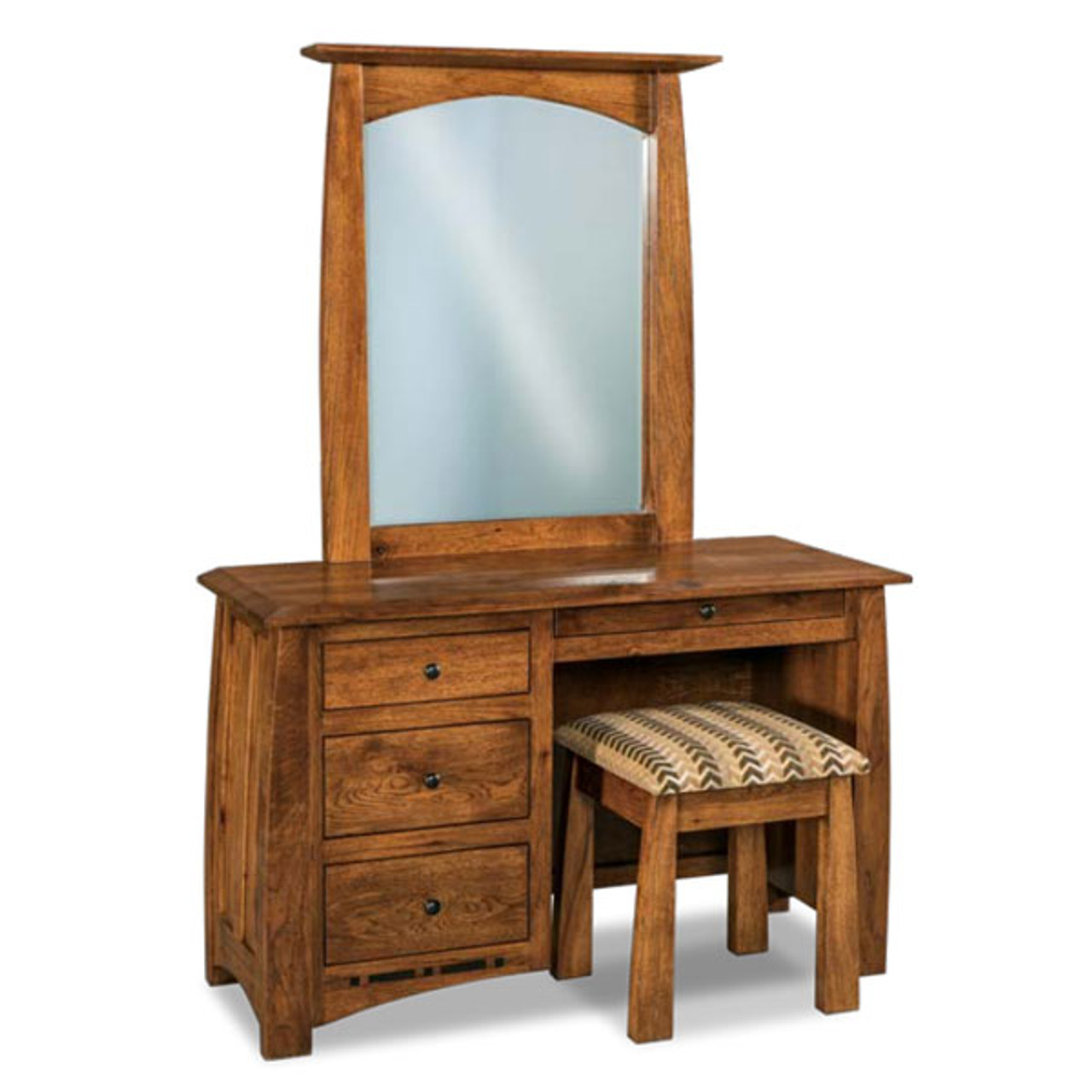 Awesome Boulder Creek Vanity Bench Cherry Valley Furniture Squirreltailoven Fun Painted Chair Ideas Images Squirreltailovenorg