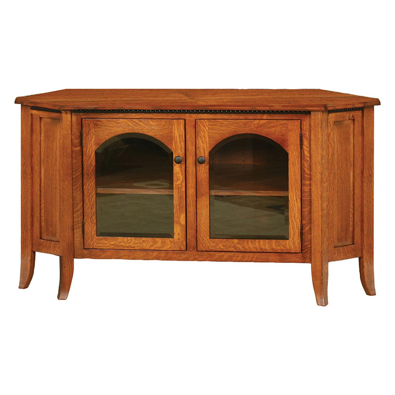 Bunker Hill Corner Tv Stand Cherry Valley Furniture