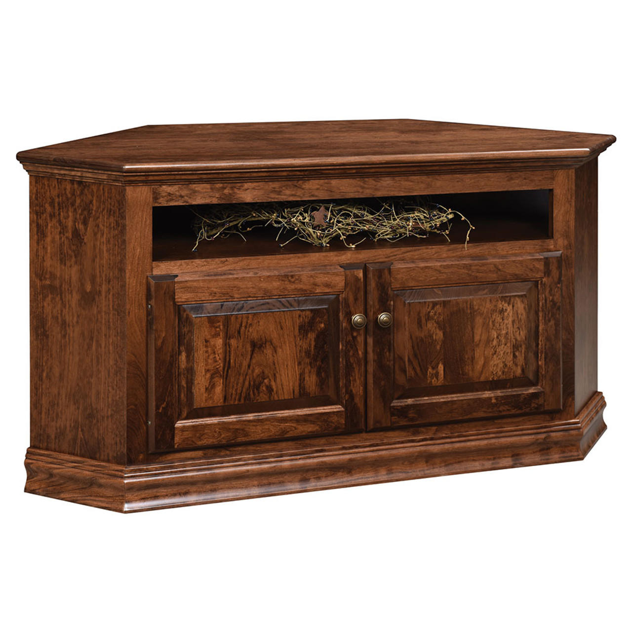 Traditional Corner Tv Stand Cherry Valley Furniture In Ohio