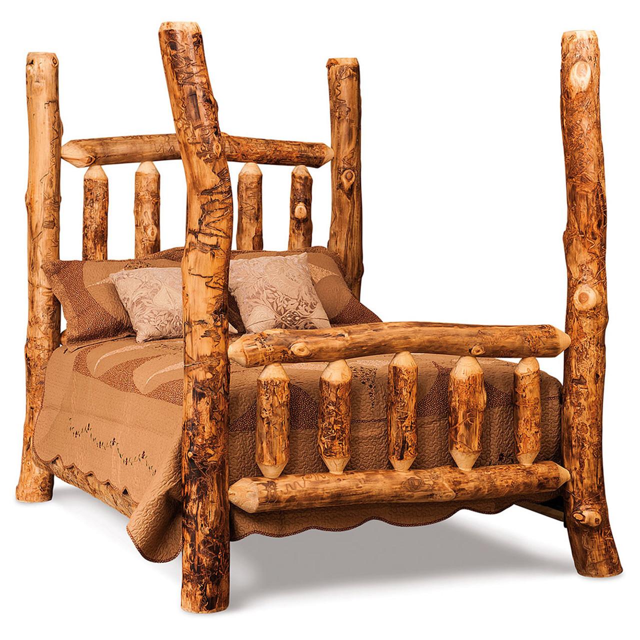 Aspen Log Full 4 Post Bed   Cherry Valley Furniture