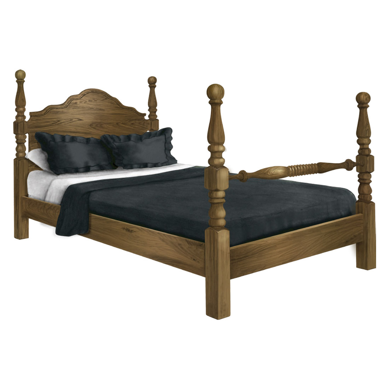Heirloom Cannonball Bed - Cherry Valley Furniture