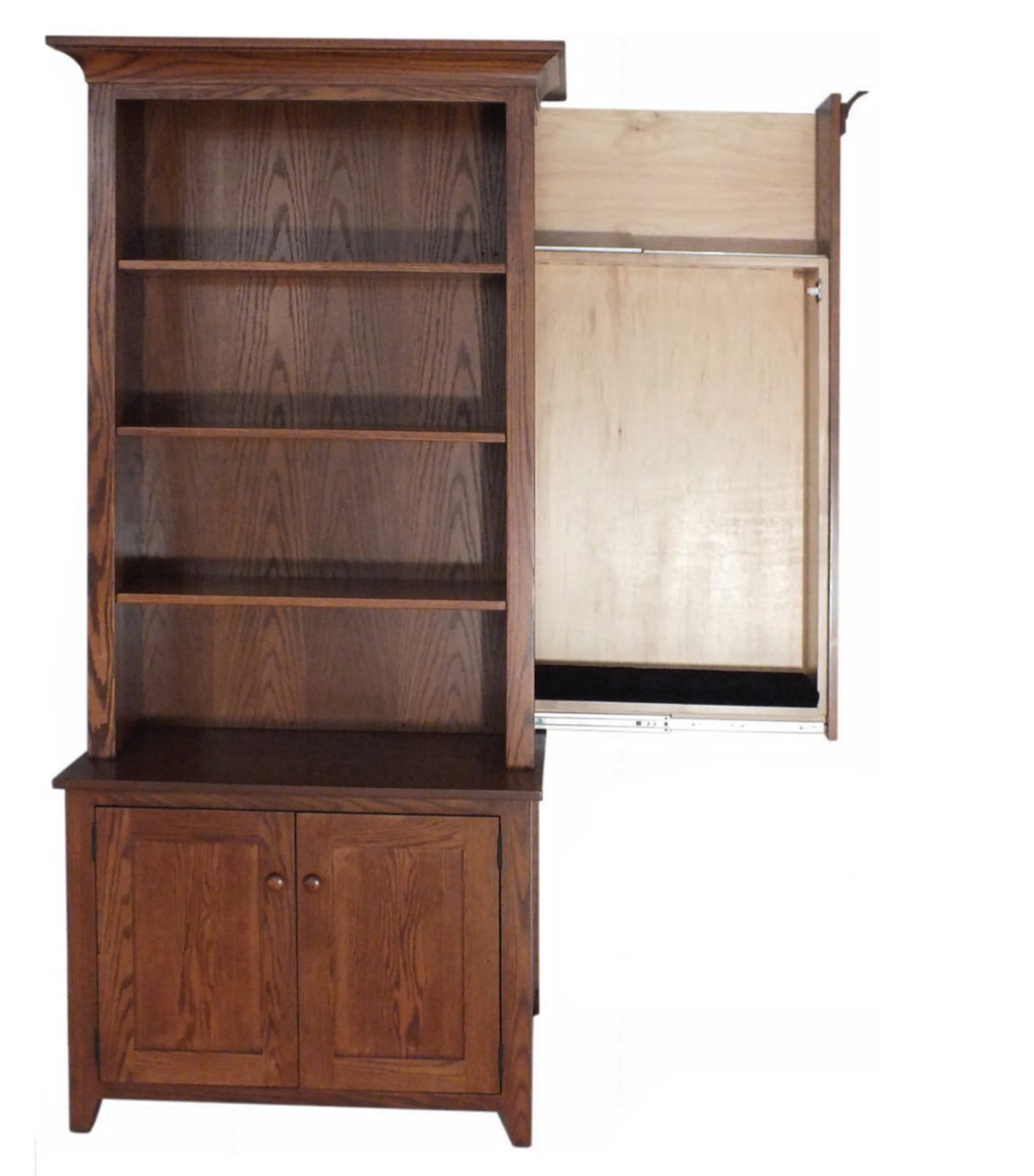 Outstanding Bookcase W Hidden Gun Cabinet Ii Cherry Valley Furniture Download Free Architecture Designs Intelgarnamadebymaigaardcom