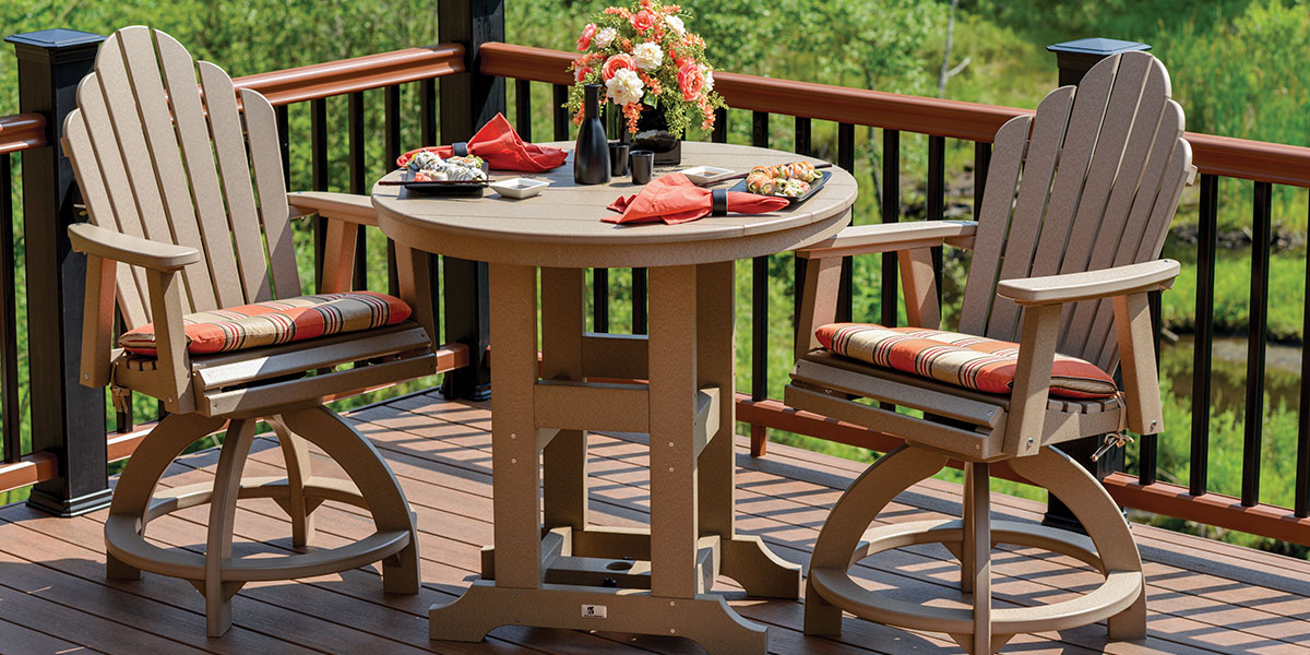 Poly Patio table and chairs