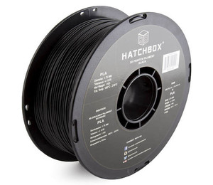 HATCHBOX 3D PLA-1KG1.75-BLK PLA 3D Printer Filament