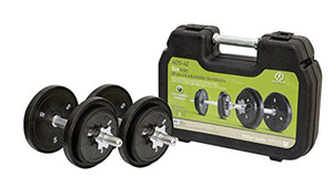 Marcy ADS - 42 ECO Iron 40 lb. Adjustable Dumbbell Set with a Carrying Case