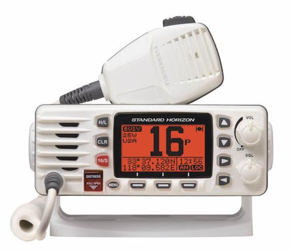 White boat radio