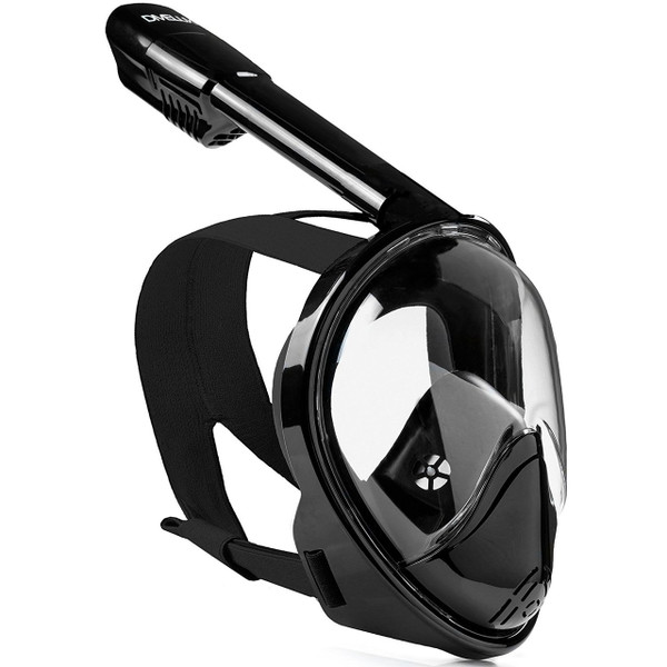 Black Snorkel Mask, Divelux that lets you see and breath underwater