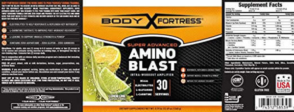 Body Fortress Amino Blast in Lemon Lime nutrition facts