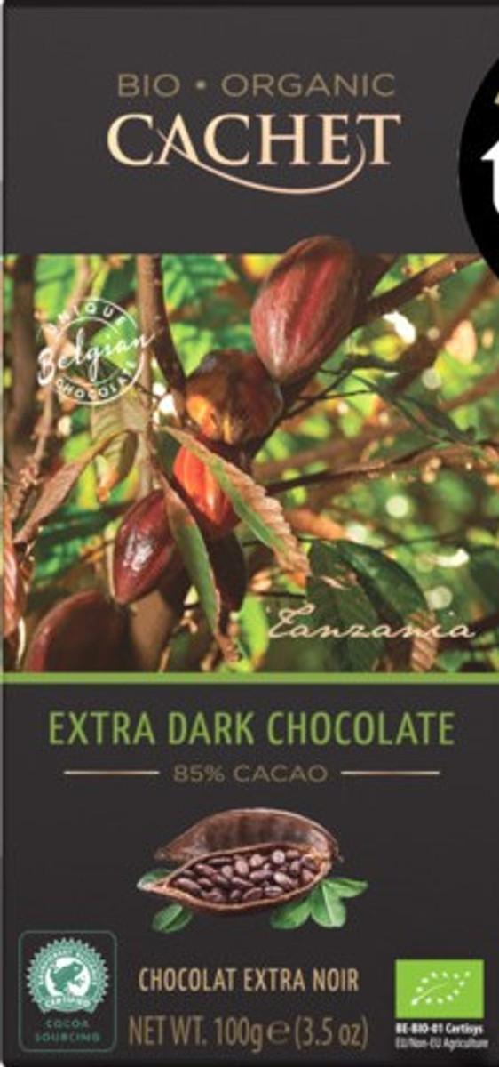 12 Bars of Cachet Extra Dark Chocolate