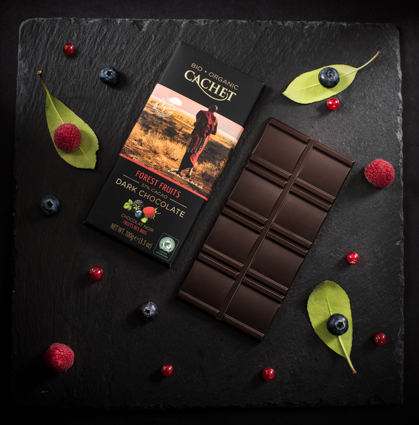 12 Bars of Cachet Dark Chocolate with Forest Fruits