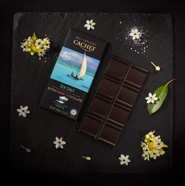 12 Bars of Cachet Dark Chocolate with Sea Salt