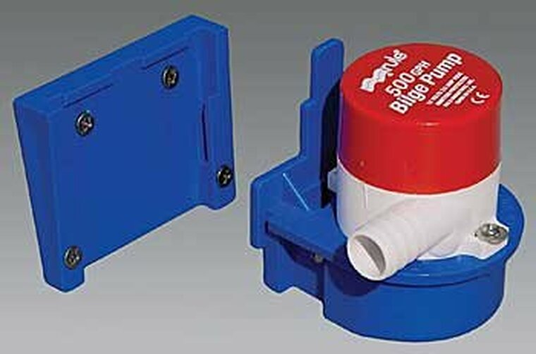 Transom mount brackets & pump