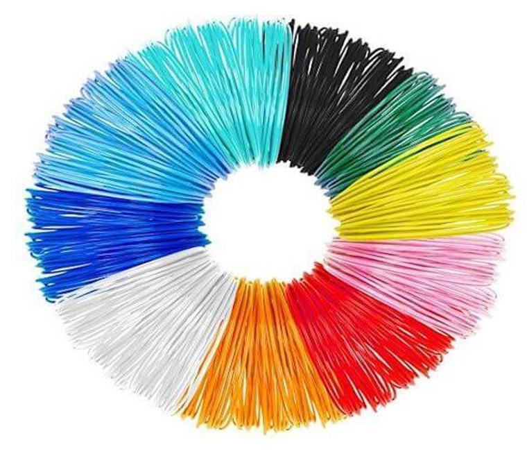 Tecboss 3D Pen Filament PLA Refills for 3D Printer Pen - 1.75mm 10 Colors 16.4 Feet Per Color