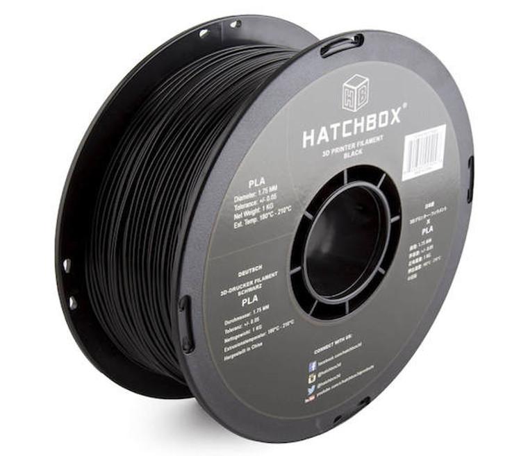 HATCHBOX 3D PLA-1KG1.75-BLK PLA 3D Printer Filament
