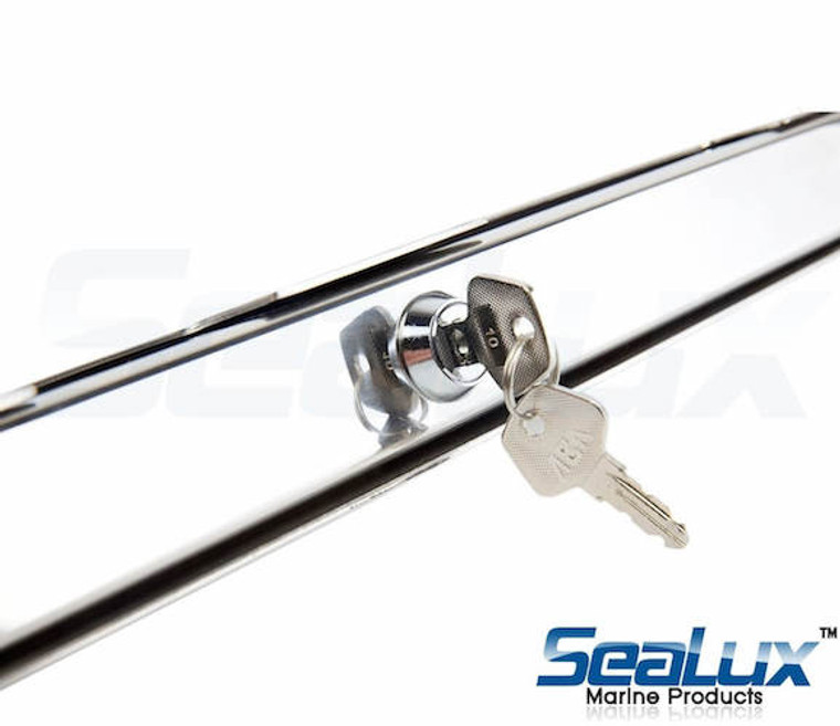 SeaLux Marine Outboard Motor lock Anti-Drill security clamp lock with cylinder screw lock