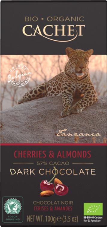 12 Bars of Cachet Dark Chocolate with Cherries & Almonds