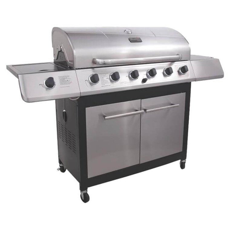 Char-Broil 463230514 6-Burner Gas Grill With Side Burner