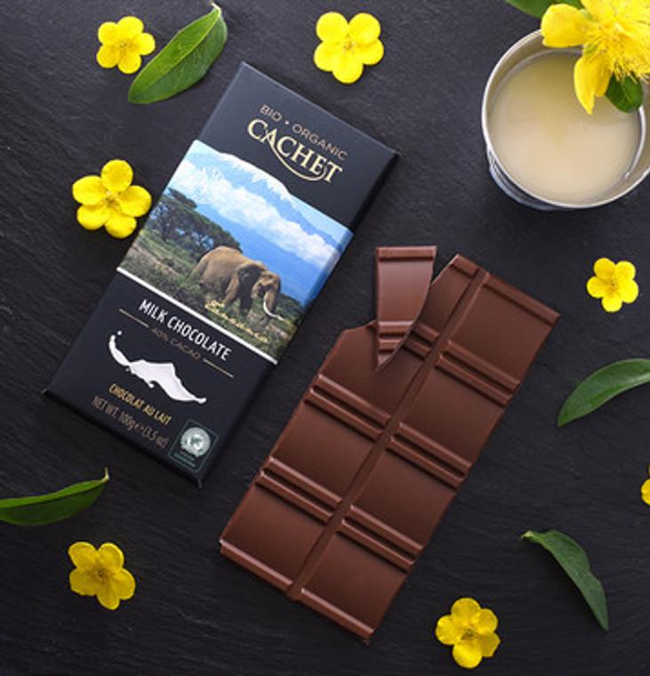 CACHET CHOCOLATE ORGANIC BELGIAN MILK
