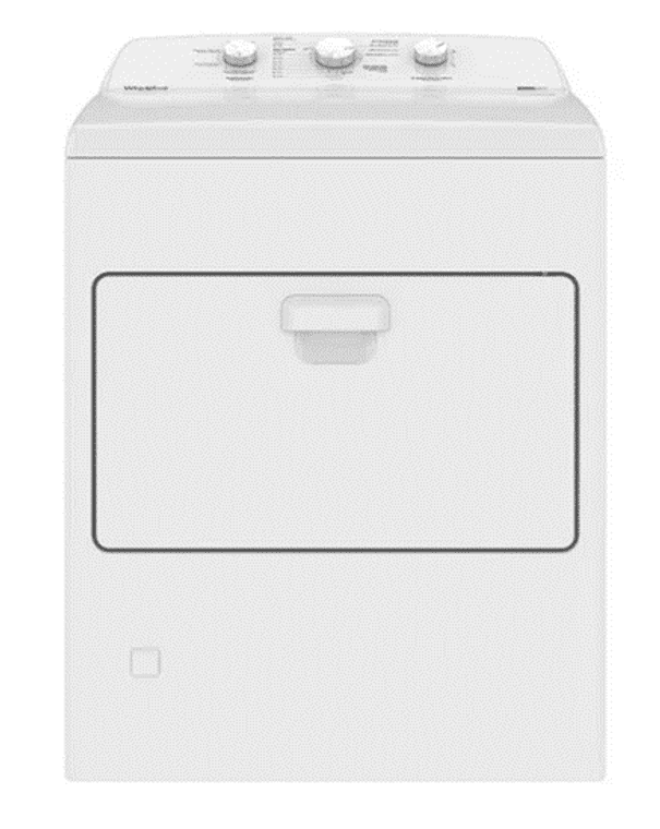 Electric Top Charge Dryer 18 Kg AutoDry 7MWED1730JQ White, Whirpool
