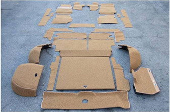 Complete Carpet Kit, Velour New W123 Wagon
