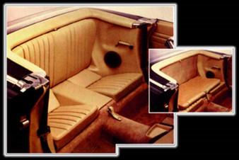 Complete Rear Jump Seat Assembly, Folding NEW MBTex Vinyl R107 SL