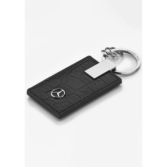 Mercedes-Benz Crocodile Embossed Leather Key Ring