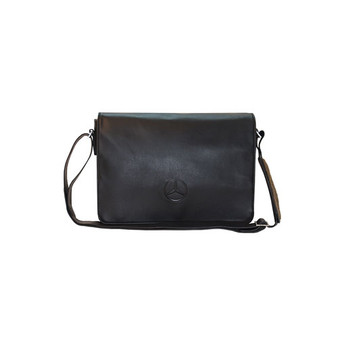 Mercedes-Benz Leather Messenger Bag