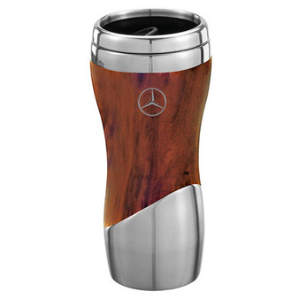 Mercedes-Benz Double Wall Stainless Steel And Wood Grain Tumbler