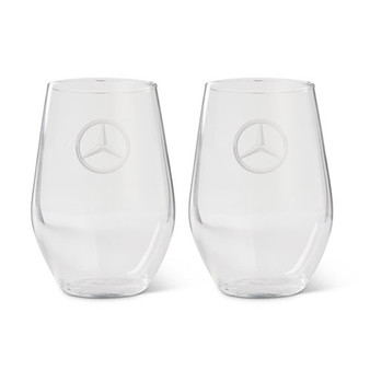 Mercedes-Benz Star Stemless Glass, Set of 4