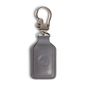 Mercedes-Benz Leather Key Fob, Grey