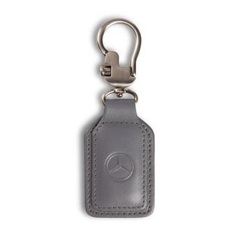 Mercedes-Benz Leather Key Fob, Grey