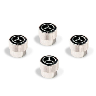 Mercedes-Benz Star Valve Stem Caps, Black