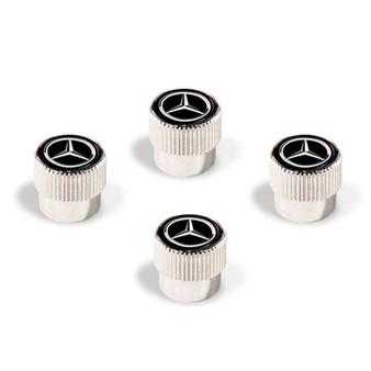 Mercedes-Benz Star Valve Stem Caps, Black