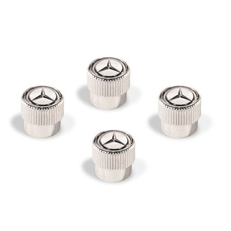 Mercedes-Benz Star Valve Stem Caps, White
