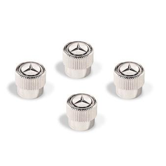 Mercedes-Benz Star Valve Stem Caps, White
