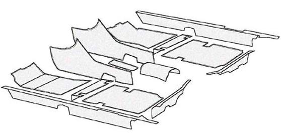 Complete Carpet Kit, German Loop New C107 R107 W108 W109 W113 W114 W115 W116 W123