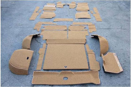 Complete Carpet Kit, Velour New W123 Wagon
