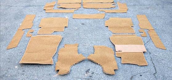 Cabin Area Carpet Set, German Loop New W123 Wagon