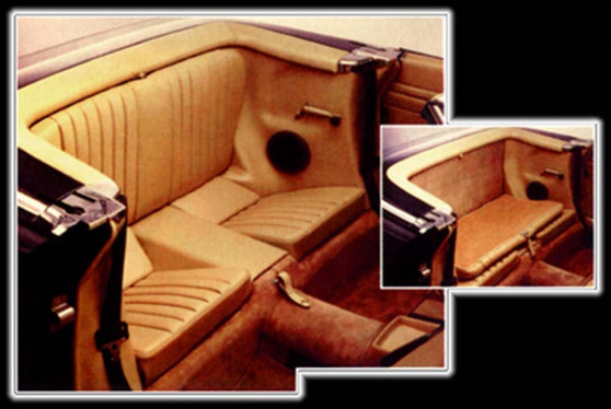 Complete Rear Jump Seat Assembly, Folding NEW Leather R107 SL