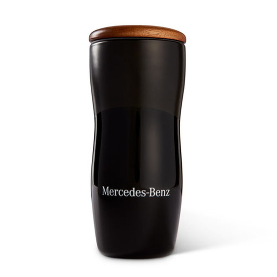 Mercedes-Benz Ceramic Tumbler with Wood Lid, 10 oz