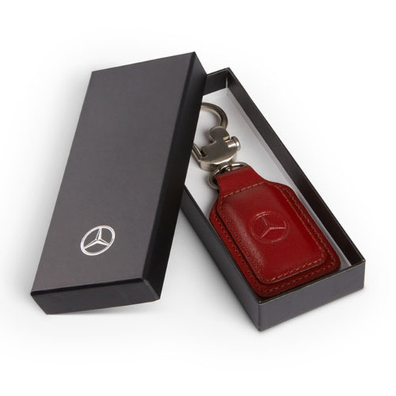 Mercedes-Benz Leather Key Fob, Red