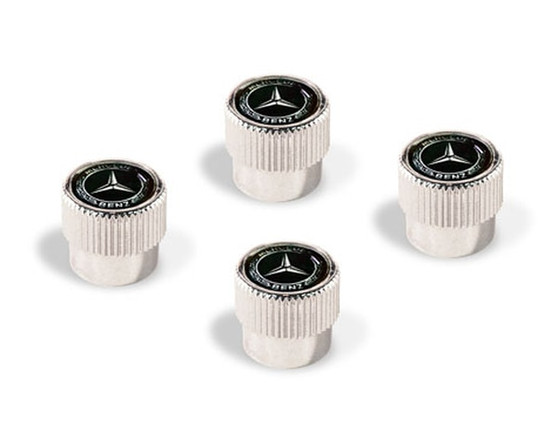 Mercedes-Benz Laurel-Leaf Valve Stem Caps, Black
